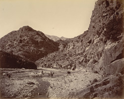 View in the pass near Ali Musjid, showing Tortang [Torkham].